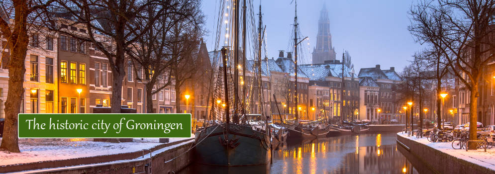 The historic city of Groningen in the Netherlands
