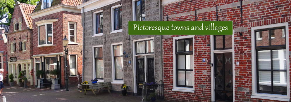 Picturesque towns and villages in Groningen, the Netherlands